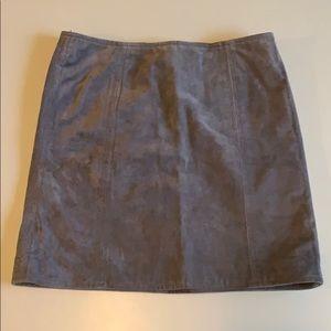 Blank NYC Gray Suede Mini Skirt